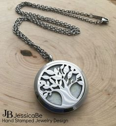 Essential Oil Diffuser Locket Necklace by JessicaBe on Etsy