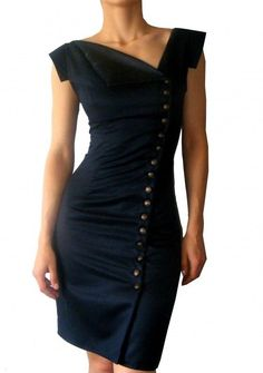 Asymmetrical little black dress..love it!