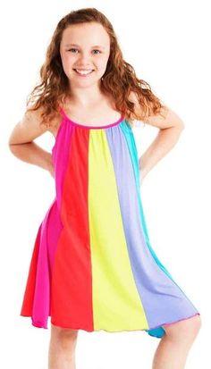 d9a93d4a83c6e3 Limeapple Sport Stripe Tank Dress (Little Girls   Big Girls) Gestreepte Jurk
