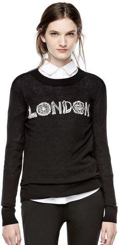 Thakoon for Kohl's London Graphic Crewneck Sweater