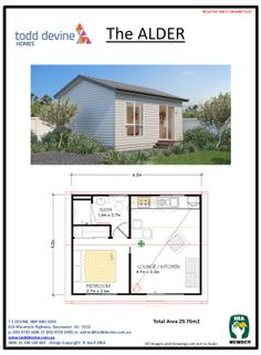 Perfect Granny Pod Todd Devine Homes Tiny House Cabin, Tiny House Living, Tiny House Design, Cottage Plan, Cottage Homes, Little Houses, Tiny Houses, Mother In Law Cottage, Granny Flat Plans