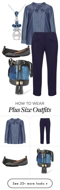 """plus size doris"" by aleger-1 on Polyvore featuring Manon Baptiste, navabi, See by Chloé, Miadora and Yosi Samra"