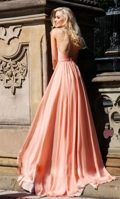Coral bridesmaid dresses 2014, A pastel coral bridesmaid dress any girl would love to wear