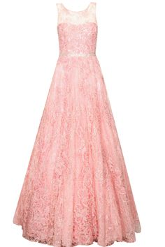 Rose pink floral swaroskovi crystals and pearls embroidered gown available only at Pernia's Pop Up Shop.#perniaspopupshop #newcollection #festive #clothing #designer #Jyotsanatiwari