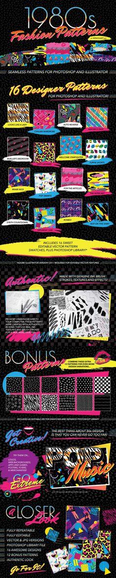Fashion Patterns Time to take your design work to the next extreme with Retro Design, Graphic Design, 1980s Design, Vintage Designs, Retro Vintage, 80s Aesthetic, Retro Waves, Retro Illustration, Fashion Patterns