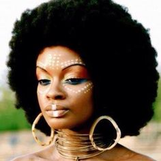 Sacred Bombshell Lifestyle | Natural afro and makeup. You better work African…