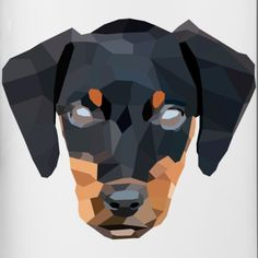bfb16c4c low poly designs   wobbsy   Hund   Cooles Low Poly Design by wobbsy -  Trinkflasche