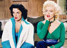 """Jane RUSSELL & Marilyn MONROE dans """"Gentlemen Prefer Blondes"""" (Les Hommes préfèrent les blondes - 1953)"""