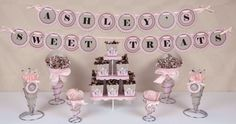 Cowgirl Baby Shower ideas for a candy buffet