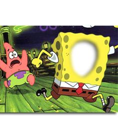 #fotomontaje #bobesponja #spongebob Montaje fotográfico de Bob esponja y #Patricio. Inserta una cara en esta televisiva #esponja amarilla con pantalones marrones perseguida por su inseparable compañero rosa. www.fotoefectos.com