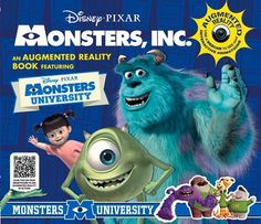 Monsters Inc An Augmented Reality Book *** ON SALE Check it Out
