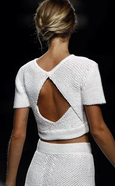 open back cropped sweater top #UNIQUE_WOMENS_FASHION