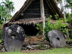 Giant coins from the Island of Yap. In the Federated States of Micronesia.