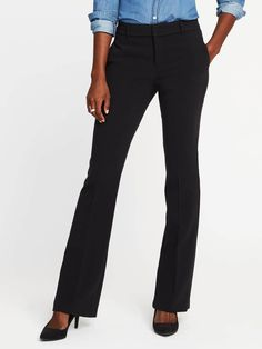 Mid-Rise Slim Flare Harper Trousers for Women | Old Navy