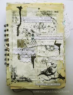 journal page with black