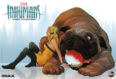New Illustrated Poster for INHUMANS by Comicbook Artist Karl Kerschl Features Crystal & Lockjaw