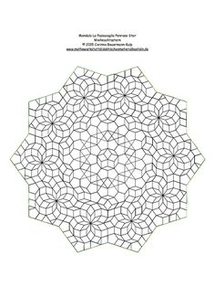 Mandala La Passacaglia Penrose Star Poinsettia