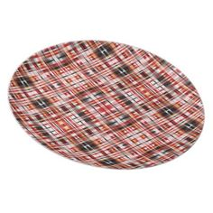 Black Gold Red & White Pattern   Dinner Plate - kitchen gifts diy ideas decor special unique individual customized