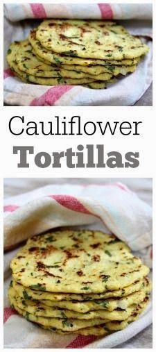 Tortillas made out of cauliflower instead of flour. It's unbelievable how delicious they are! Gr...