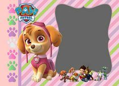 Paw Patrol niña Invitaciones Candy Land, Paw Patrol Party Invitations, Sky Paw Patrol, Cumple Paw Patrol, Pink Parties, 4th Birthday, Party Time, Cards, Dog Birthday