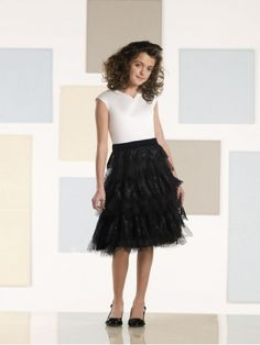 Knee-length Satin Lace and Tulle Velvet Waistband Bodice V-neck A-line Flower Girl Dress