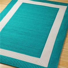 Border Braided Indoor Outdoor Rug: 11 Colors