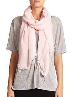 Vince Solid Fringed Scarf