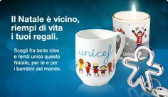 Scegli una tazza, una candela o un qualsiasi regalo UNICEF. In ogni regalo c'è un dono ancora più prezioso, la vita di un bambino! Quale dono più prezioso di questo! www.regali.unicef.it