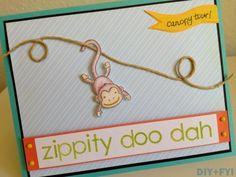 ziplining monkey card