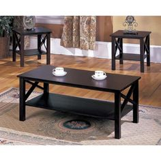 better homes and gardens rustic country coffee table, antiqued