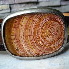 "Great gift for men! Faux woodgrain belt buckle ""Quercus""  by LonesomeRoadStudio, $39.00"