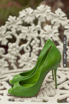 green wedding heels by Casadei | CHECK OUT MORE IDEAS AT WEDDINGPINS.NET | #weddingshoes