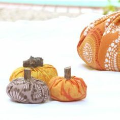 Pumpkin spice is used in these handmade fabric pumpkins. What an adorable way to add a delicious autumn scent to your home decor!
