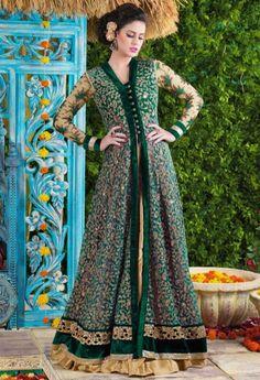 Green Designer Net Salwar Kameez 36429