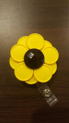 160 best vial cap crafts images on pinterest badge reel bottle large sunflower handmade retractable id badge by missiescrafts solutioingenieria Choice Image
