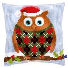 Cushion - Christmas owl