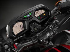 Honda releases their updated 2017 Honda and 2017 Honda at the EICMA show in Milan, Italy. Honda Cb, Honda Bikes, Honda Motorcycles, Honda Motors, Cb 650f, Moto Bike, Cbr, World, Hornet