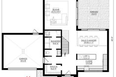 Plan de Maison Moderne Ë_112 | Leguë Architecture Furniture Showroom, Modern House Plans, Best Investments, My House, Floor Plans, Good Things, Attention, Modern Homes, How To Plan