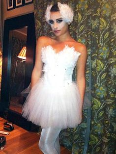 Lea Michele looked lovely as the White Swan.