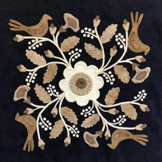 the Cutting Table) Block Heads 2 – Blocks 25 & Heads 2 – Blocks 25 & 26 Wool Applique Quilts, Wool Applique Patterns, Wool Quilts, Wool Embroidery, Hand Applique, Felt Applique, Black And White Quilts, Block Head, Patch Aplique