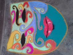 rangoli competition in ramjas college organised by fine art society of ramjas college