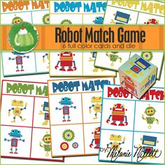 Robot Match Printable Learning Game