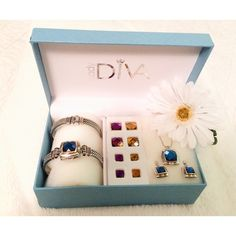 Lady Diva Customizable Jewelry Set🌸💎 This set comes with a watch, bangle, earrings and necklace. Silver toned with gold toned accents. The colored jewels are interchangeable! This set is a couple years old, so watch needs new battery. Never worn and in perfect condition! (The box has some slight wear and tear to it due to the fact that I've had it for so long, but the jewelry itself is in perfect condition!)😊 Lady Diva Jewelry
