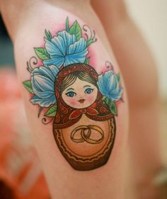 Discovered by Find images and videos about tattoo, flower and ink on We Heart It - the app to get lost in what you love. Ring Tattoos, Love Tattoos, Body Art Tattoos, Tatoos, Babushka Tattoo, Russian Doll Tattoo, Nesting Doll Tattoo, Matryoshka Doll, Skin Art