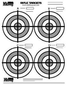 150 RED BULLSEYE Shooting Targets (3 8.5x11 PADS OF 50