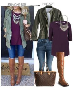 Straight Size To Plus Size  Fall Casual Outfit - Plus Size Fashion for Women