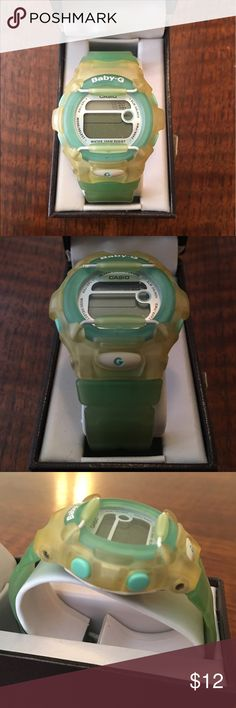 G Shock watch Baby G line (adult size with different holes for adjustability) funky and cute! G-Shock Accessories Watches
