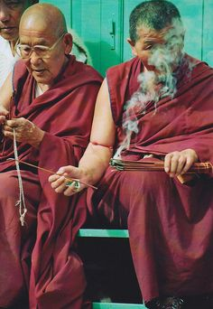 Monks-THE ONE ON THE LEFT LOOKS LIKE MY GRANDPA!