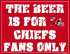 Kansas City Chiefs Fan Sign - Man Cave Sign