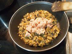 Flan de berenjena y atún con mayonesa de ajo negro | Cocinar en casa es facilisimo.com